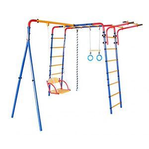Yard swingsets, climbing frames and sandboxes